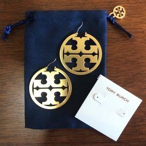 NIB Tory Burch Gold Miller Hoop Earrings